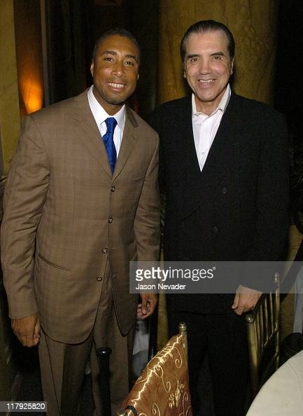 Bernie Williams and Chazz Palminteri during First Annual 'Heroes for Hope' Gala and Benefit at Capitale in New York City New York United States