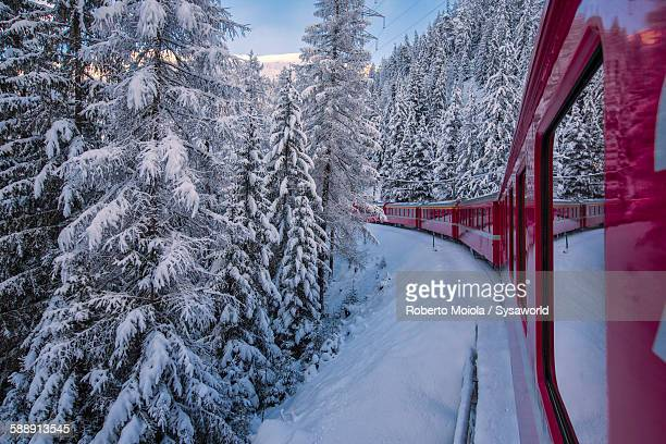 Bernina express Filisur Switzerland