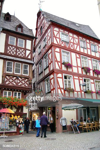Bernkastel-Kues on the Mosel Valley : Stock Photo