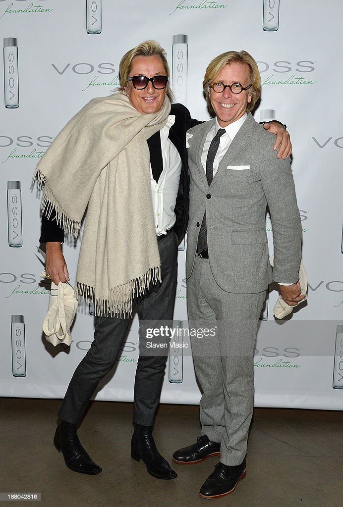 Bernt Heiberg (L) and William Cummings attend the fourth annual Voss Foundation Women Helping Women New York luncheon at Dream Downtown on November 14, 2013 in New York City.