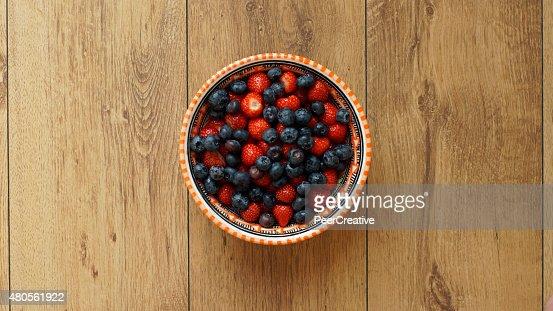 Berries and strawberries : Stock Photo