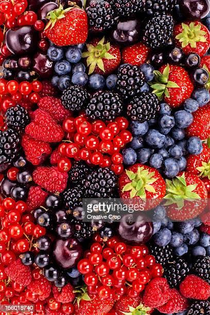 Berries, fruits and cherries