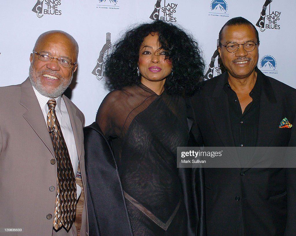 Berry Gordy Diana Ross and Billy Dee Williams during 'Lady Sings the Blues' DVD Release Screening Arrivals at Paramount Theatre in Hollywood...