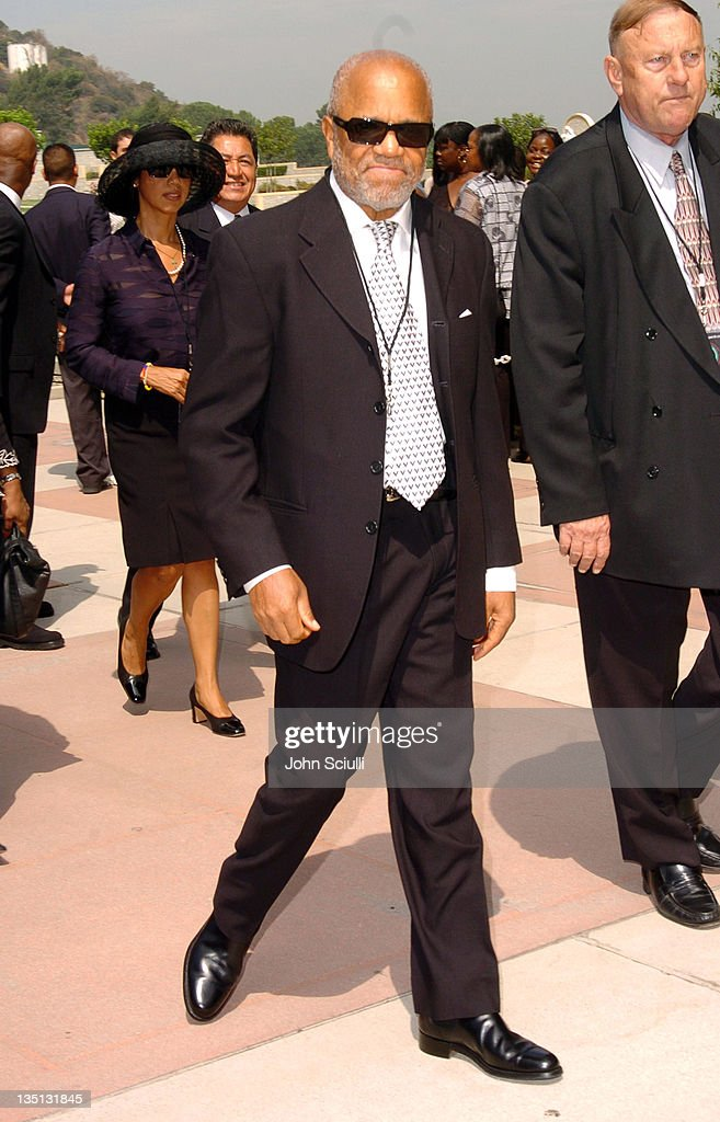 Berry Gordy during A Celebration of the Life of Rick James - Arrivals at Forest Lawn in Burbank, California, United States.
