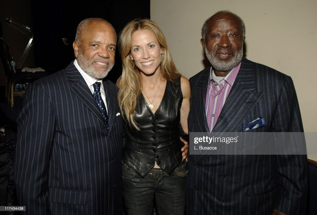 Berry Gordy, Sheryl Crow and Clarence Avant at the T.J. Martell Foundation's 31st Annual Awards gala at the Marriott Marquis in New York City **EXCLUSIVE