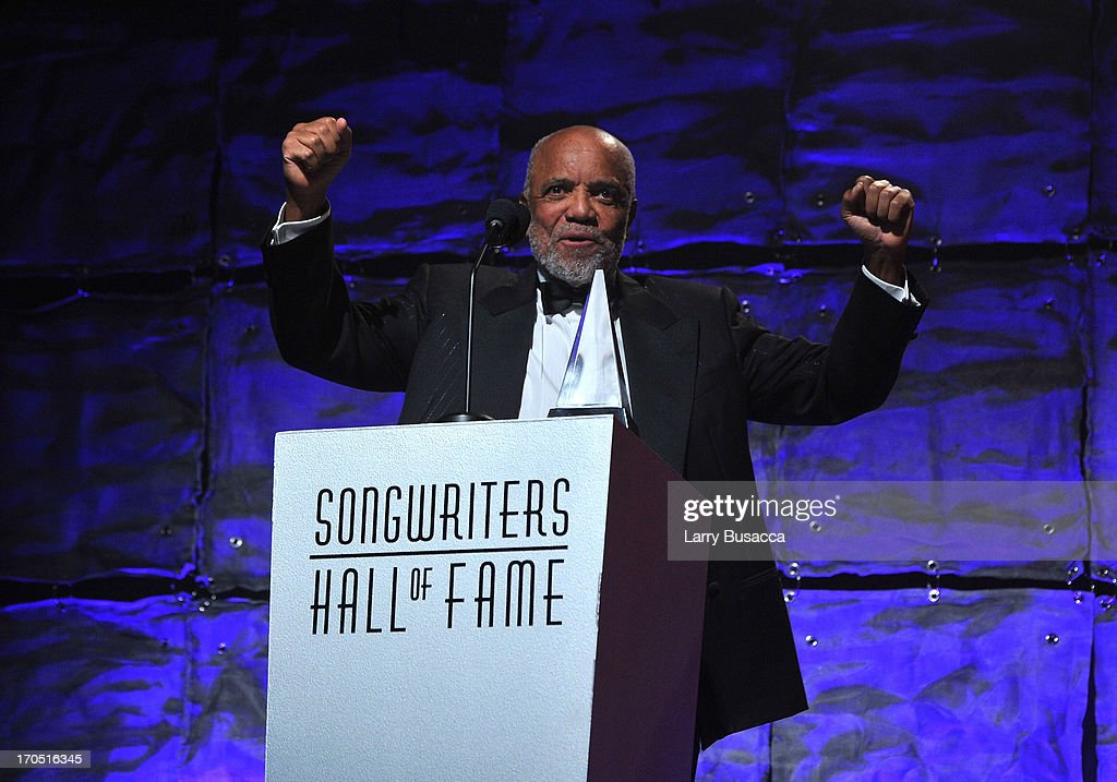 Berry Gordy speaks at the Songwriters Hall of Fame 44th Annual Induction and Awards Dinner at the New York Marriott Marquis on June 13, 2013 in New York City.
