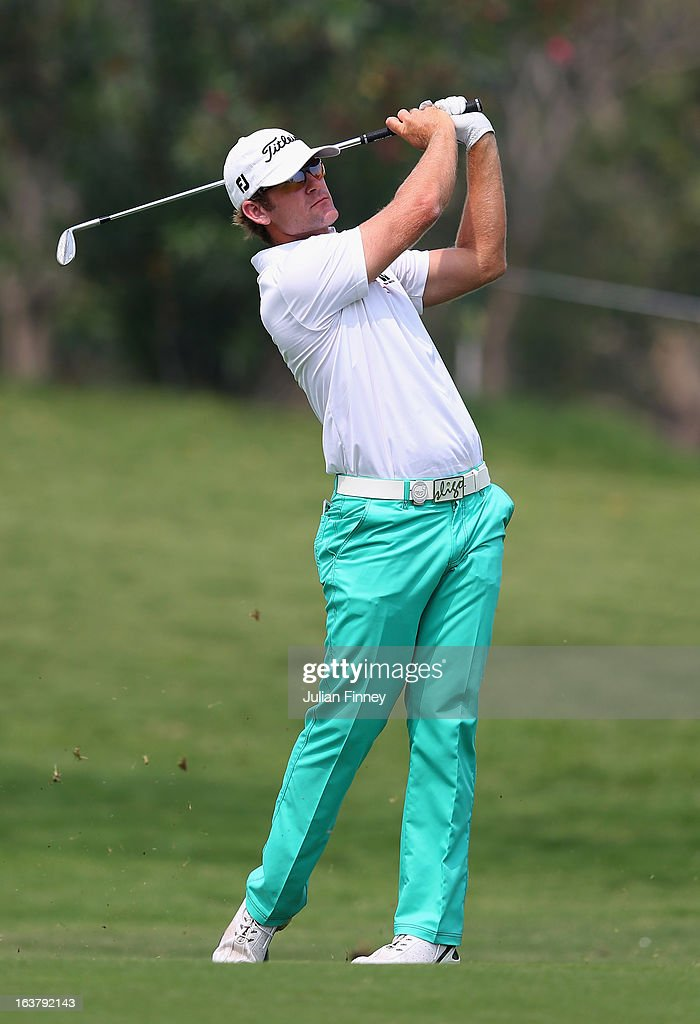 Berry Henson of USA in action during day three of the Avantha Masters at Jaypee Greens Golf Club on March 16, 2013 in Delhi, India.