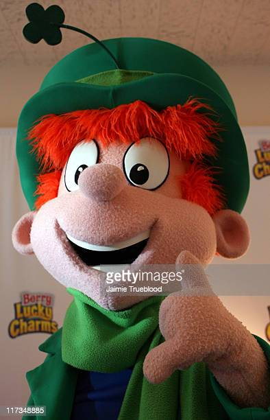 Berry Lucky Charm Leprechaun during Silver Spoon Golden Globes Hollywood Buffet Day 2 at Private Residence in Beverly Hills California United States...