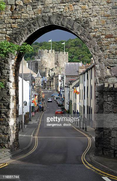 Berry Street towards Conwy Castle