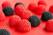 Berry sweets, close up