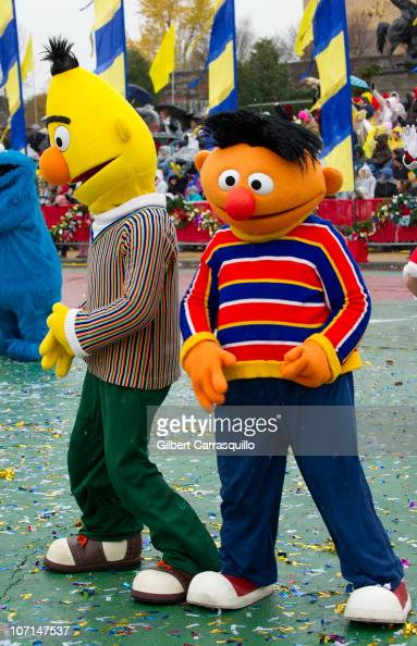 Bert and Ernie from 'Sesame Street' attend the 91st Annual 6ABC IKEA Thanksgiving Day Parade on November 25 2010 in Philadelphia Pennsylvania