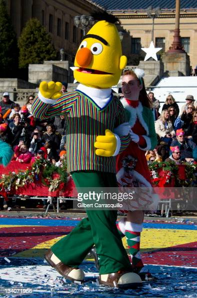 Bert from 'Sesame Street' attends the 92nd Annual 6ABC Dunkin' Donuts Thanksgiving Day Parade on November 24 2011 in Philadelphia Pennsylvania