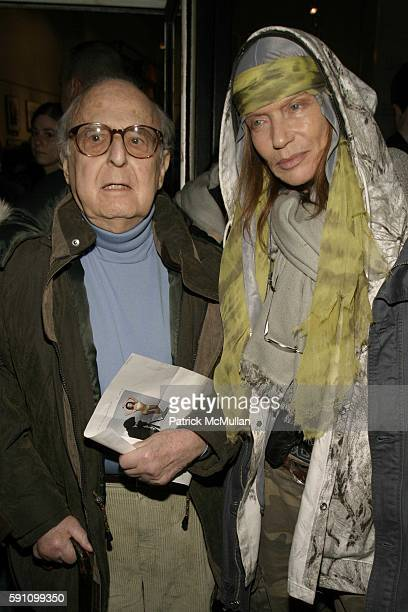 Bert Glinn and Veruska attend Edie Sedgwick Unseen Photographs of a Warhol Superstar Opening Reception Hosted by Misha Sedgwick at 111 4th Avenue on...