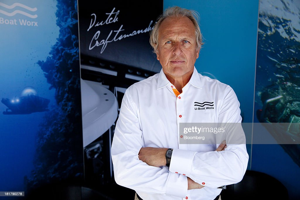 Bert Houtman, director of U-Boat Worx, poses for a photograph during the Monaco Yacht Show (MYS) in the harbor in Monaco, France, on Wednesday, Sept. 25, 2013. Over 100 of the world's luxury yachts will be displayed in Port Hercules during the 23rd MYS which runs from Sept. 25 - 28. Photographer: Balint Porneczi/Bloomberg via Getty Images