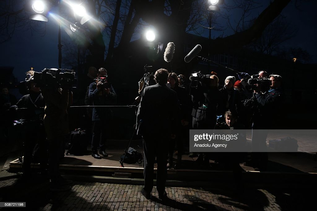 Bert Koanders, Minister of Foreign Affairs of the Netherlands arrives to take part in Informal Gymnich meeting of EU foreign ministers in Amsterdam, Netherlands on February 6, 2016.
