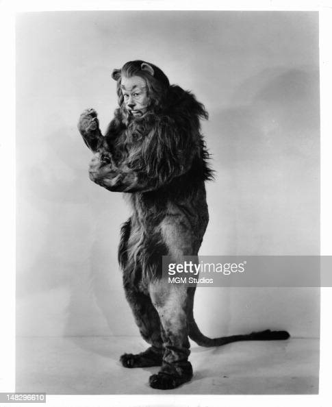 Bert Lahr as the Cowardly Lion in a scene from the film 'The Wizard Of Oz' 1939