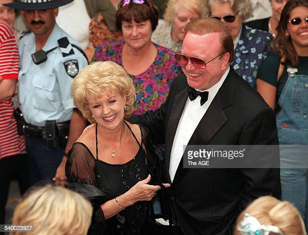 Bert Newton and his wife Patti at the wedding of Ann Peacock and Michael Kroger at St Michael's Church Collins Street Melbourne 13 March 1999 THE AGE...