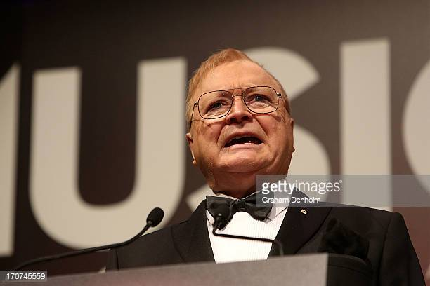 Bert Newton presents the Ted Albert Award for Outstanding Services to Australian Music during the 2013 APRA Music Awards at The Plenary on June 17...