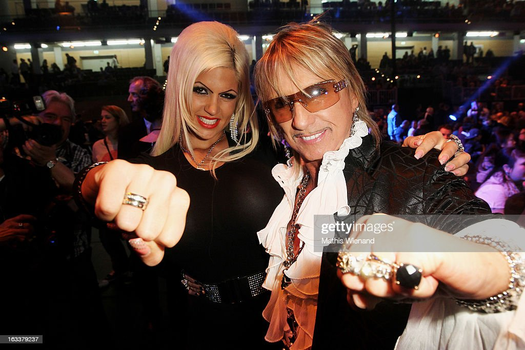 Bert Wollersheim and his girlfriend attend the 'Das Grosse Sat.1 Promiboxen' at Castello on March 8, 2013 in Dusseldorf, Germany.
