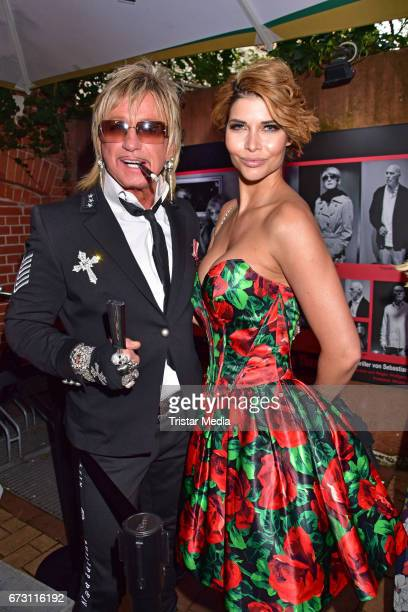 Bert Wollersheim and Micaela Schaefer during the celebration of Julian F M Stoeckels 25th birthday on April 25 2017 in Berlin Germany