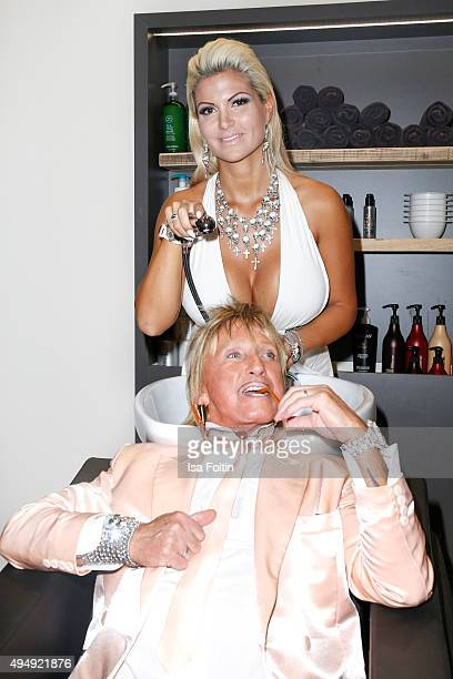 Bert Wollersheim and Sophia Wollersheim attend the Flaconi Neo Salon Opening on October 29 2015 in Berlin Germany