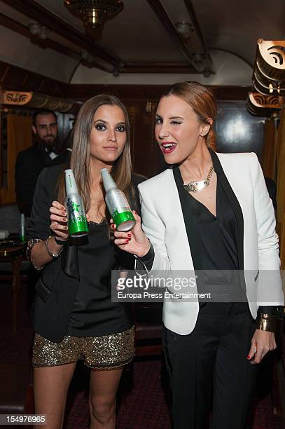Berta Collado and Ana Alvarez attends 'Heineken Crack the Case' at Atocha Gardens on October 27 2012 in Madrid Spain