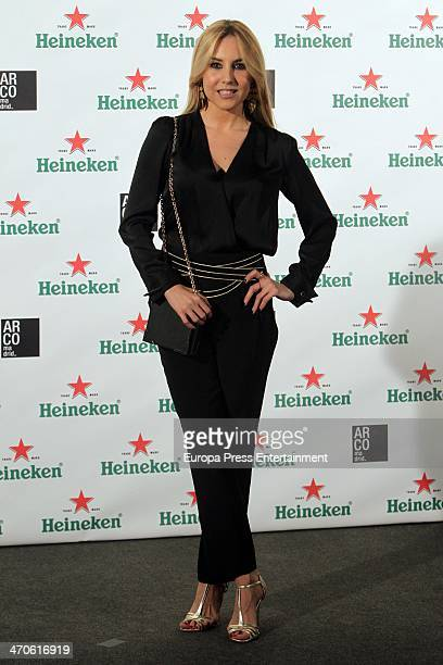 Berta Collado attends ARCO Madrid by Heineken cocktail party Palacio de Fernan Nunez on February 19 2014 in Madrid Spain