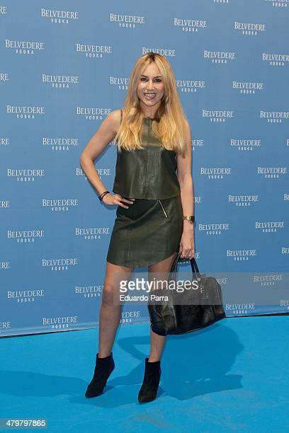 Berta Collado attends Belvedere Vodka party photocall at Principe Pio train station on March 20 2014 in Madrid Spain