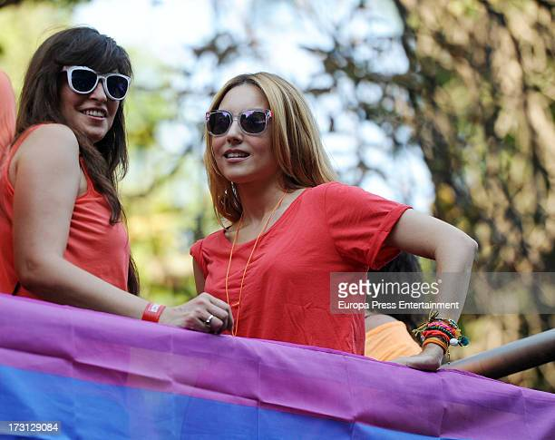Berta Collado attends Madrid Gay Pride Parade 2013 on July 6 2013 in Madrid Spain