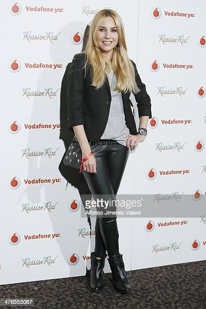 Berta Collado attends Russian Red Concert in Madrid on March 3 2014 in Madrid Spain