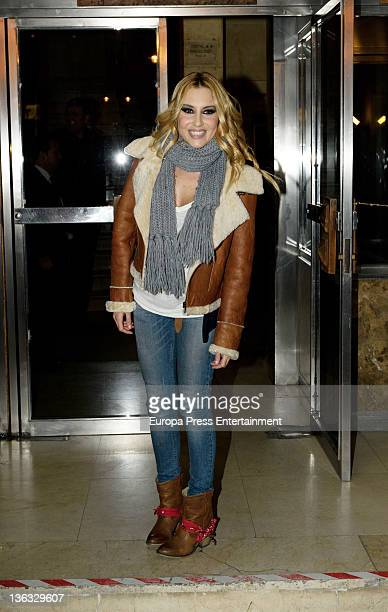 Berta Collado attends the rehearsal of New Years Eve 2011 TV program for Tele 5 channel on December 30 2011 in Madrid Spain