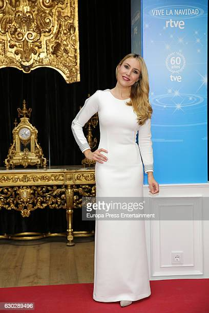 Berta Collado attends the TVE Christmas toast celebration photocall at Hotel Palacio de los Duques on December 19 2016 in Madrid Spain