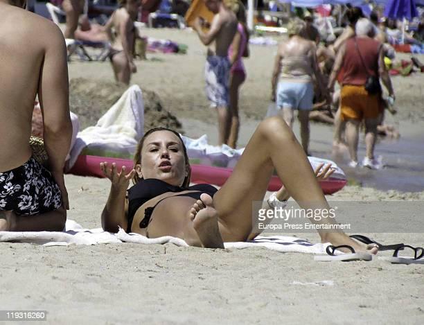 Berta Collado is seen sighting on July 18 2011 in Ibiza Spain
