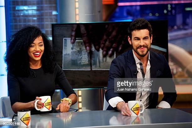 Berta Vazquez and Mario Casas attend 'El Hormiguero' Tv show at Vertice Studio on December 22 2015 in Madrid Spain
