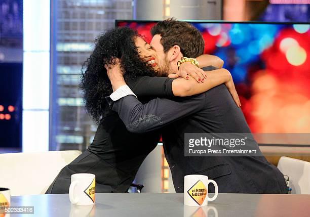 Berta Vazquez and Mario Casas attend 'El Hormiguero' Tv show on December 22 2015 in Madrid Spain
