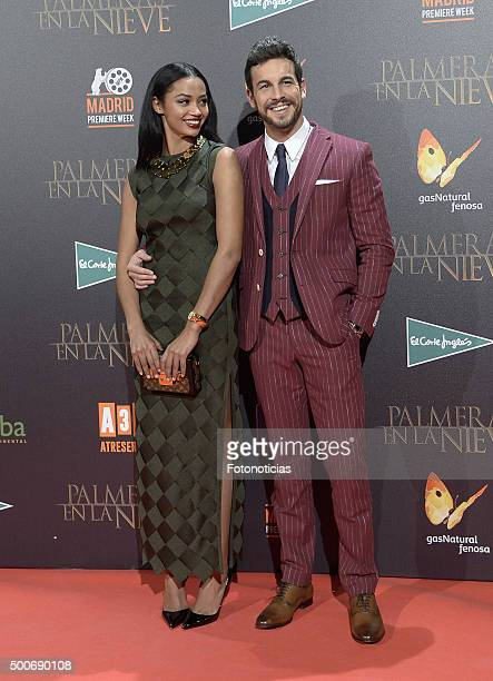 Berta Vazquez and Mario Casas attend the 'Palmeras en la Nieve' Premiere at Kinepolis Cinema on December 9 2015 in Madrid Spain