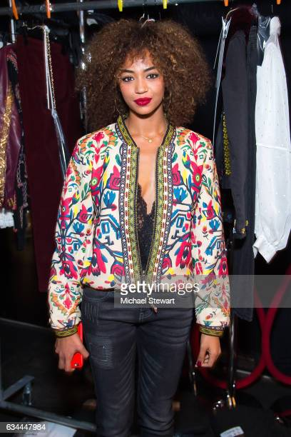 Berta Vazquez attends the Desigual show during February 2017 New York Fashion Week The Shows at Gallery 1 Skylight Clarkson Sq on February 9 2017 in...