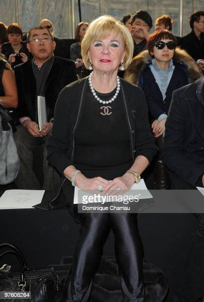 Bertelsmann Chairwoman Liz Mohn attends the Louis Vuitton Ready to Wear show as part of the Paris Womenswear Fashion Week Fall/Winter 2011 at Cour...