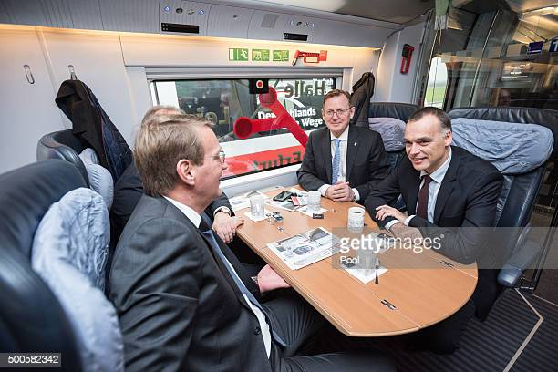 Berthold Huber Chief Traffic and transport Deutsche Bahn AG Bodo Ramelow Prime Minister of Thuringia and Ronald Pofalla Chief Economics Law and...
