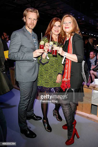 Berthold Manns Claudia Wenzel and Marion Kracht attend the Spirit of Istanbul by Yeni Raki on March 14 2015 in Berlin Germany