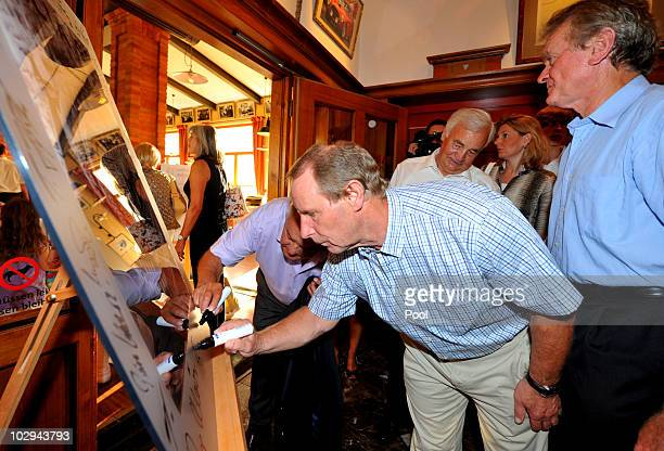 Berti Vogts attends the German World Cup Team of 1990 Meeting to celebrate their 20th anniversary at Europapark on July 16 2010 in Rust Germany The...