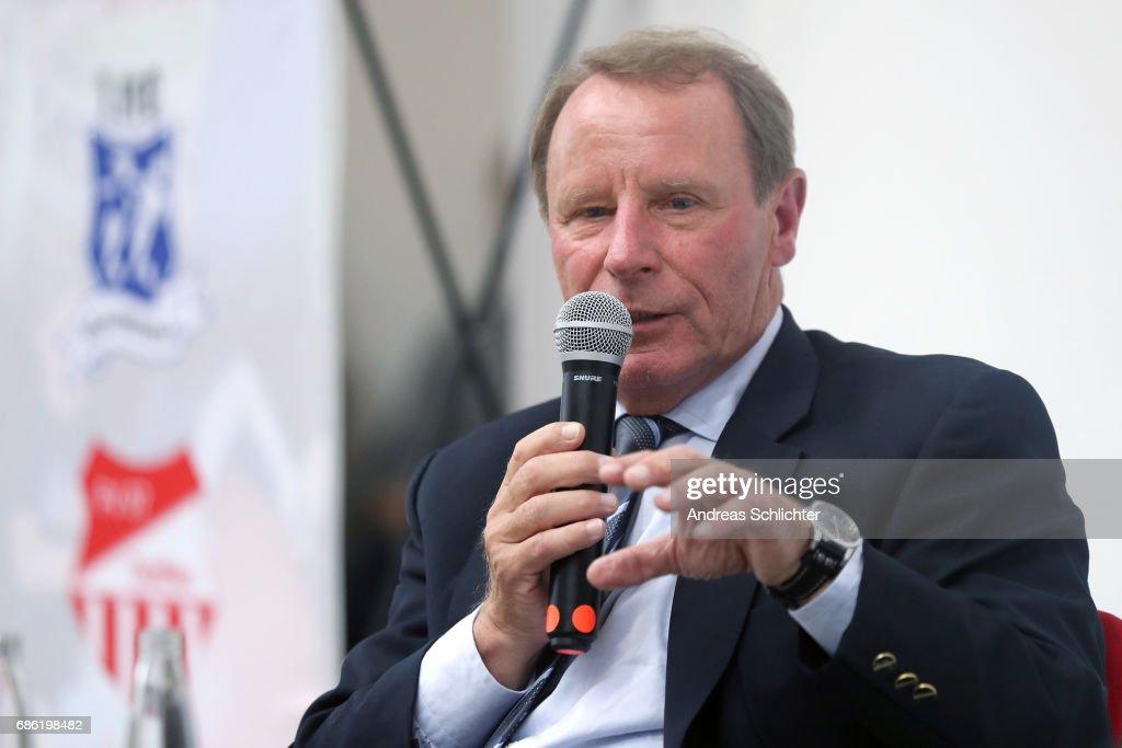 Berti Vogts during the awarding ceremony of Hermann-Neuberger-Award on May 19, 2017 in Saarbruecken, Germany.