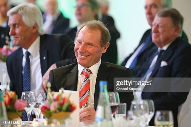 Berti Vogts smiles during Egidius Braun's 90th Birthday Celebration at Sportschule Hennef on February 27 2015 in Hennef Germany