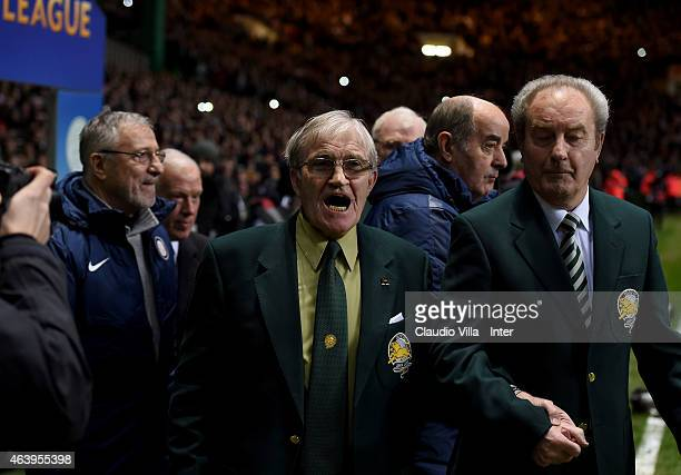 Bertie Auld prior to the UEFA Europa League Round of 32 match between Celtic FC and FC Internazionale Milano at Celtic Park on February 19 2015 in...