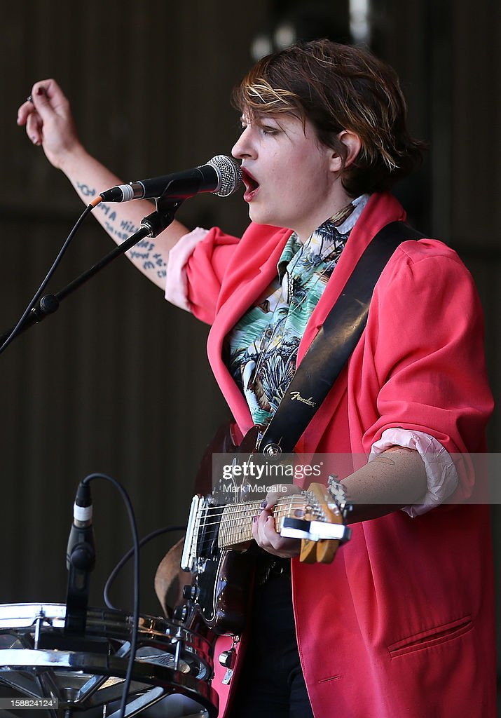Bertie Blackman performs live on stage at The Falls Music and Arts Festival on December 31, 2012 in Lorne, Australia.