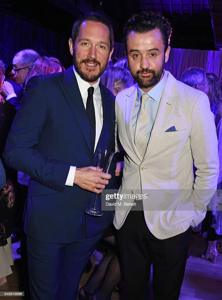 Bertie Carvel (L) and Daniel Mays attend the Summer Gala for The Old Vic at The Brewery on June 27, 2016 in London, England.