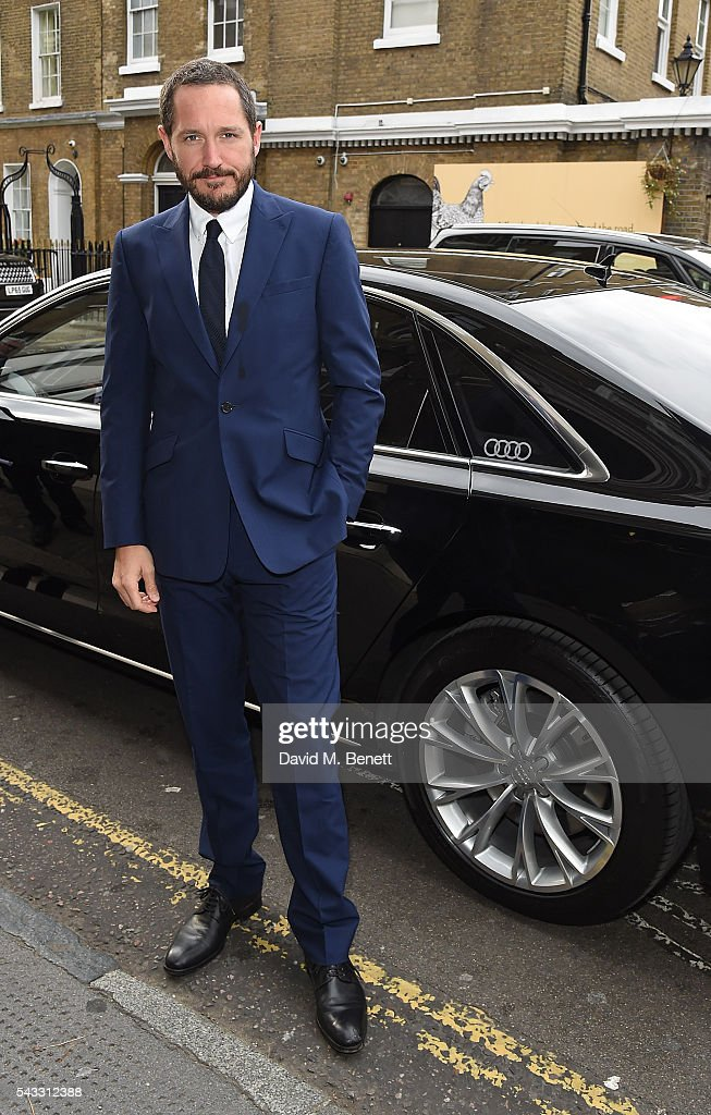 Bertie Carvel arrives in an Audi at The Old Vic Summer Gala on June 27, 2016 in London, England.