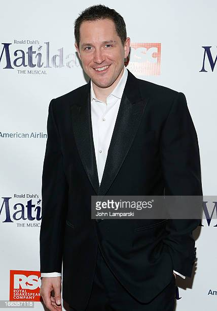 Bertie Carvel attends 'Matilda The Musical' Broadway Opening Night after party at the Marriott Marquis Hotel on April 11 2013 in New York City