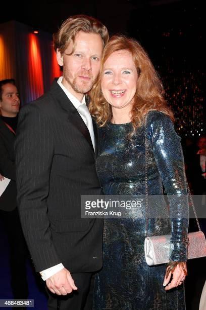 Bertold Mann and Marion Kracht attend the Goldene Kamera 2014 at Tempelhof Airport on February 01 2014 in Berlin Germany