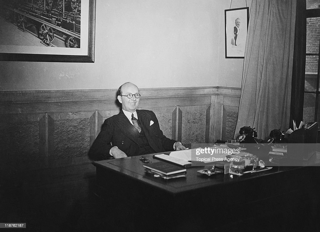 Bertram F Jones, manager of the News of The World, 13th March 1940.